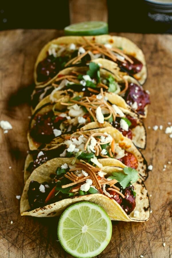 Korean-Fried-Chicken-Tacos-with-Sweet-Slaw-Crunchy-Noodles-Queso-Fresco-12-everglow